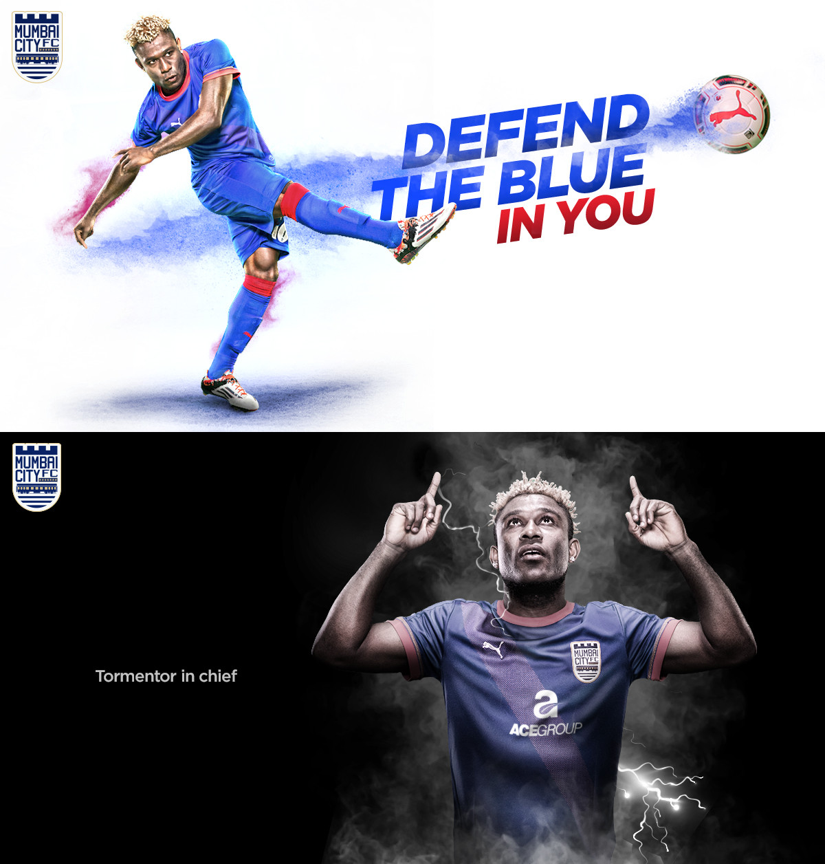 Sony Norde of Mumbai City Football Club for The Glitch.
