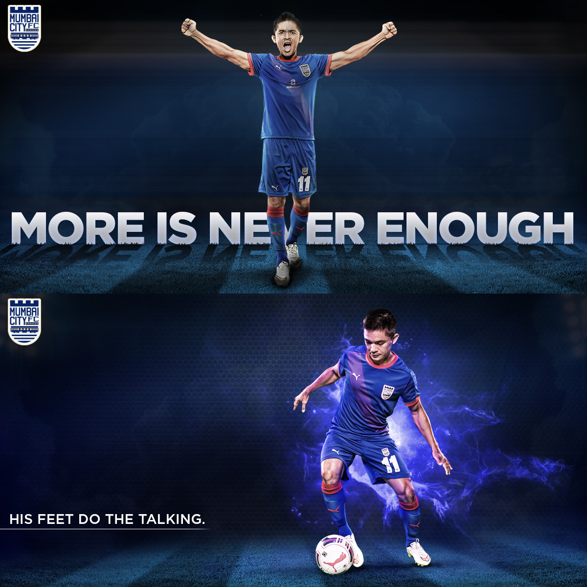 Sunil Chhetri of Mumbai City Football Club for The Glitch.